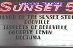 """The marquee that advertised the weekend midnight screenings of """"Rectuma"""" in 2004."""