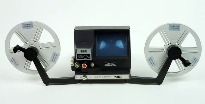 A Super 8 film editor.  Oh, the endless hours spend hunching over one of these things.