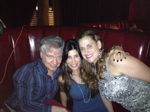 """Mark with Dani Leon and Suzanna Griffith, stars of the 1995 stage version of """"Nudist Colony of the Dead."""""""