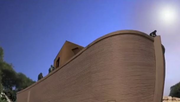 """The ark under construction in """"The God Complex."""""""