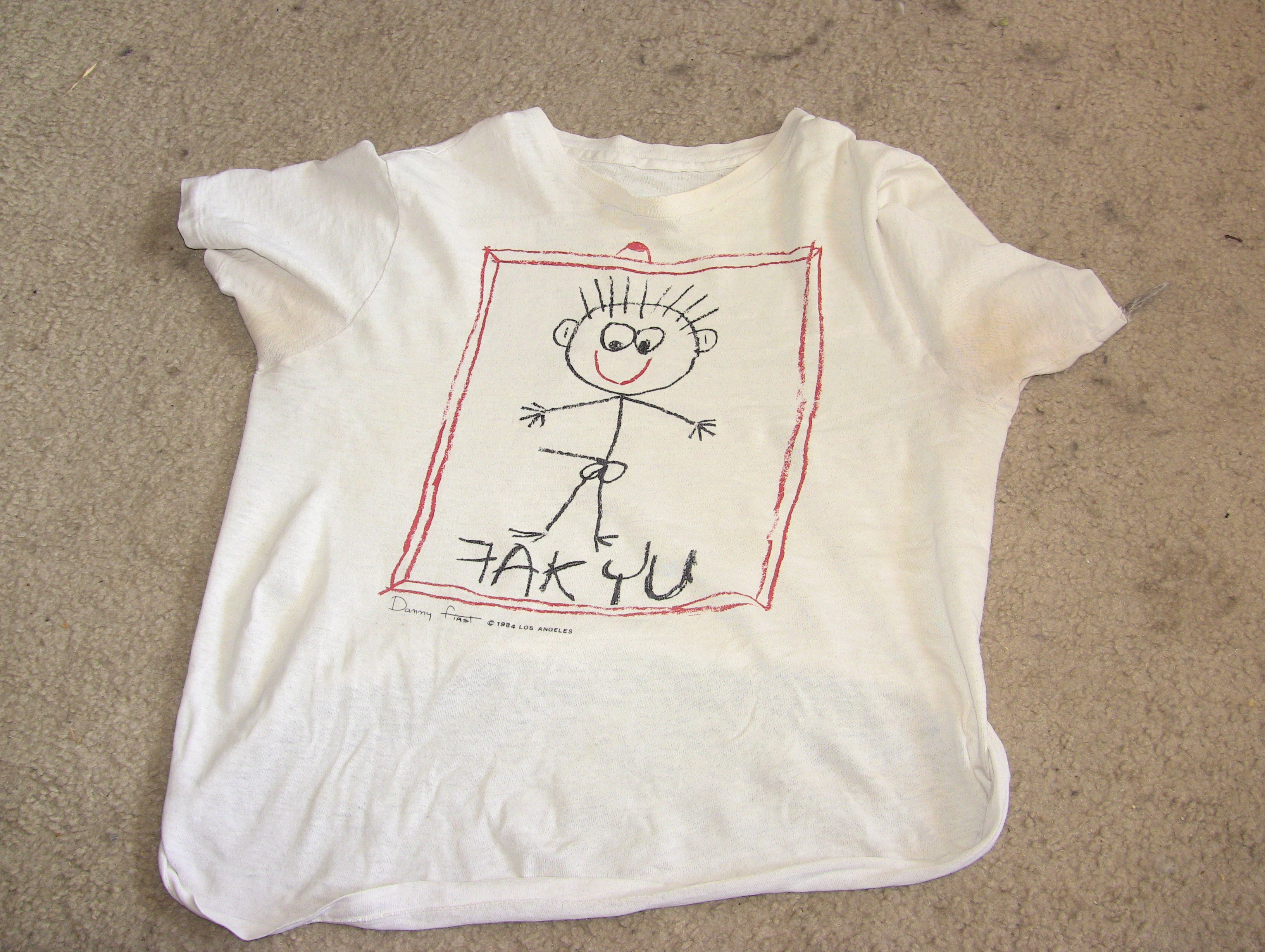 """t shirt prop from the Pirromount comedy, """"Curse of the Queerwolf"""" (1988)"""