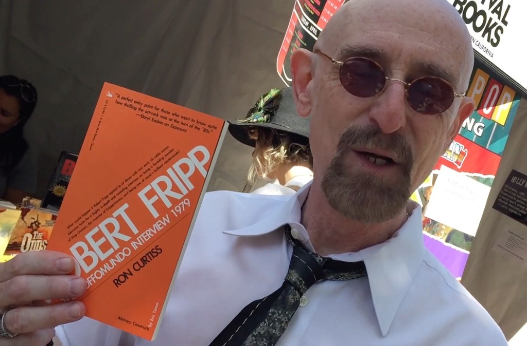 Pirromount actor Ron Curtiss shows off the book her authored