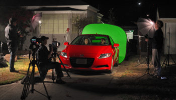 """Pirromount shooting green screen for """"Celluloid Soul."""""""