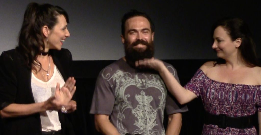 Actors in Pirromount's Celluloid Soul, at the premiere