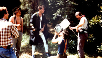 Mark Pirro shooting the mountain man scene from his 1988 comedy Curse of the Queerwolf